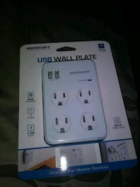 4 Outlets 2 USB port wall plate $12 brand new Santa Ana, 92704