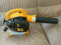 yellow and black Poulan Pro leaf blower