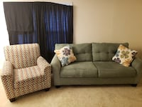 gray fabric 3-seat sofa CHANTILLY