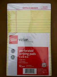"""Office Depot® Brand Perforated Writing Pads, 5"""" x  Westchester, 60154"""