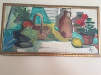 Three assorted fruits painting with brown wooden frame Raleigh, 27603