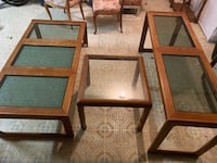 Teak Wood Glass Tables  Silver Spring, 20906