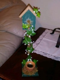 Bird house candle holder