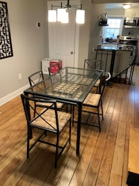 Glass Table and 5 Chairs