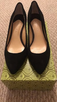 Gianni Bini Suede Shoes Black, Small Heel Brownsville