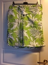 white and green floral drawstring board shorts