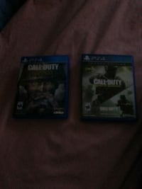 Two ps4 games:cod ww2,infinite warfare and mw Queens, 11356