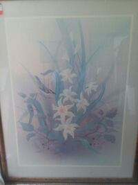 white and blue flower painting Richmond, 23236