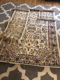 Brand New Set of Three Ivory/Multi Color Persian Style Area Rug