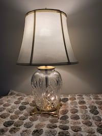 clear glass base white shade table lamp Laurel, 20707
