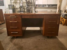 1953 Jasper Office Furniture Co. Walnut Executive Desk