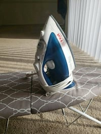 Like new T-fal Iron 1700W Ultraglide+ironing board Fairfax, 22030