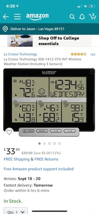 Weather station Las Vegas, 89131