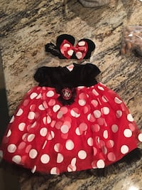 black and red Minnie Mouse dress Duson, 70529