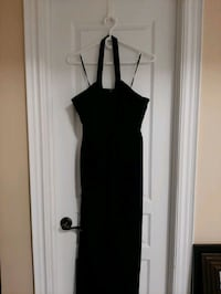 Black, halter style long gown - Size 10