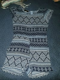white and black tribal print scoop-neck dress Silver Spring, 20902