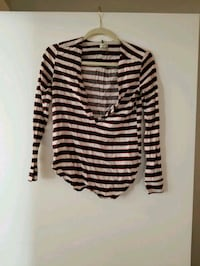 black and white striped long-sleeved shirt Montreal, H4P 0B7