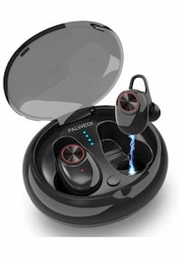 True Wireless Earbuds, Mini Bluetooth Earbuds with Charging Case, Stereo Heavy Bass TWS Bluetooth Headset Microphone Cell Phone, Wireless Bluetooh Headphones (Black)