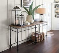 Pottery Barn Parquet Reclaimed Wood Console Table - Original Price $1200 ALEXANDRIA