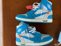 "Off-White AJ1 ""UNC"" sz 10 (lightly worn)"