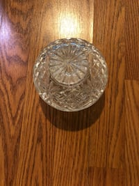 Cut crystal candy dish with lid