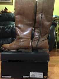 Brand new real leather boots. size 6.5. FIRM