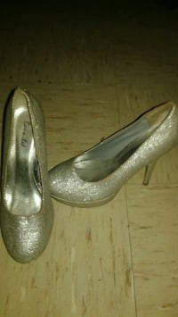 pair of silver-colored platform stilettos Birmingham, 35207
