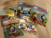 Thomas the Train Books and Board Game HARWOOD