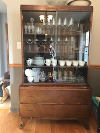 Vintage Hutch Display Cabinet