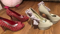 Pair of pink leather peep-toe pumps size 8.5 Toronto, M9N
