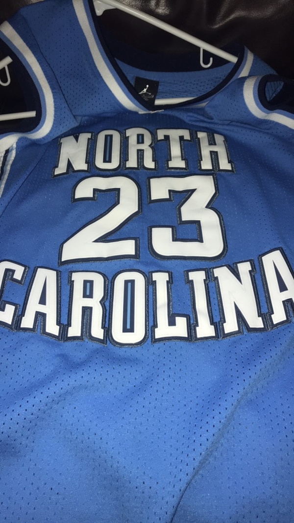 new product 2db23 df459 Used michael jordan unc jersey size kids large for sale in ...