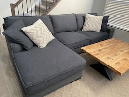 Ashley furniture sectional couch and chair