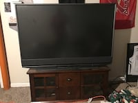 Mitsubishi 55 inch tube (HD) tv with floating tv entertainment center Independence, 64055