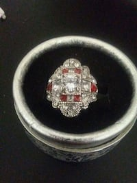 Size 7 Natural Ruby and Sapphire ring 3149 km