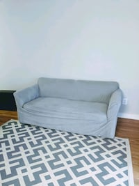 Love seat couch with slip cover Fairfax