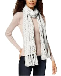 Michael Kors Women's Pointelle Cable-knit Muffler Scarves (Cream)