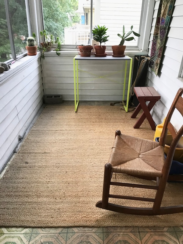 Used Outdoor Jute Rug 5x7 For In
