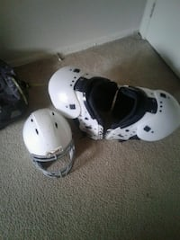 white shoulder pads; white football helmet Hyattsville, 20785