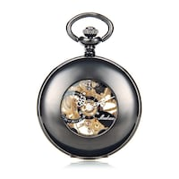 """The Mechanic"" Skeleton Pocket Watch! :) Seven Corners"