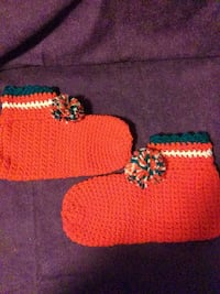 Hand knit booties
