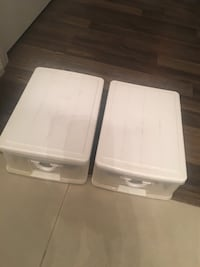 White and gray plastic container/ storage  Oakville, L6H 0K1