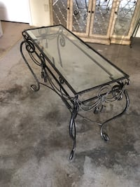 Glass tv console table and matching end table Lodi, 07644