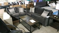 Gray fabric sofa set Mississauga, L4X 1R1