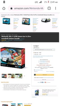 Wii U Mario Deluxe Edition Game With one controller and two games