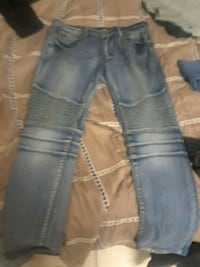 blue denim straight-cut jeans Miami Gardens, 33056