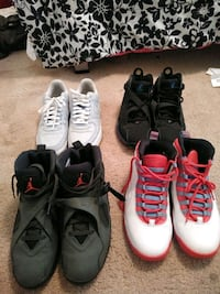 3 pair of Jordans and air Force ones all 10.5 Upper Marlboro, 20772