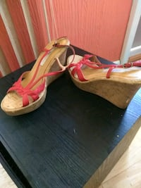 pair of pink open-toe ankle strap heels Milwaukee, 53219