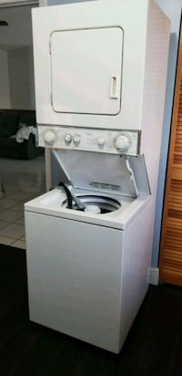 White stackable washer and dryer Hialeah, 33016