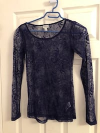 XS Purple lace shirt Mississauga