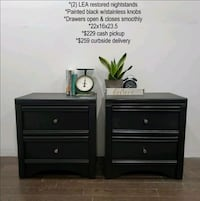 (2) LEA Black Nightstands Night Stand  (local delivery) Seat Pleasant, 20743